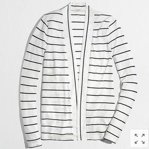 NWOT J CREW FACTORY Always Cardigan in stripe